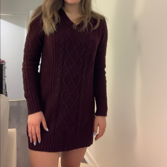 A&F cable sweater dress